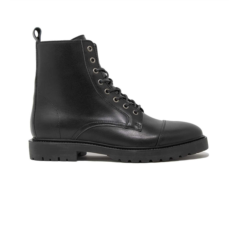 Walk London Harry Toe-cap Boot in black