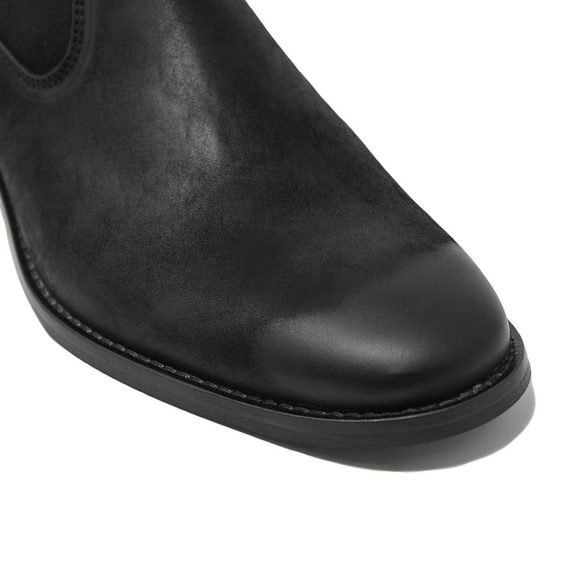 Hoxton Hex Cuban Heel Zip Up Boots