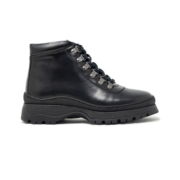 Walk London Womens Moonwalk Boots in Black Leather
