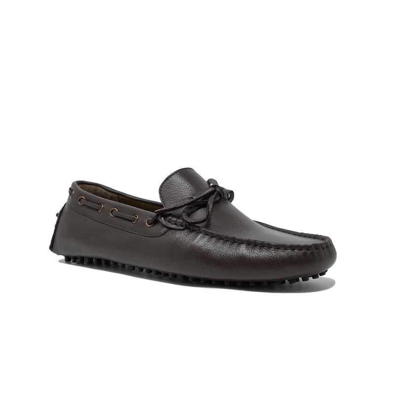 Mens Brown Leather Driving Shoes