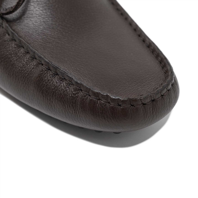 Leather Driving Shoe With Moccasin Toe