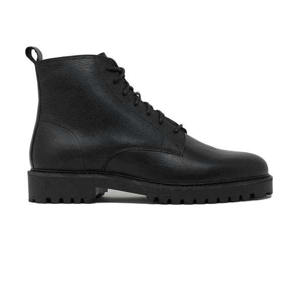 Black Mens Lace Up Boots