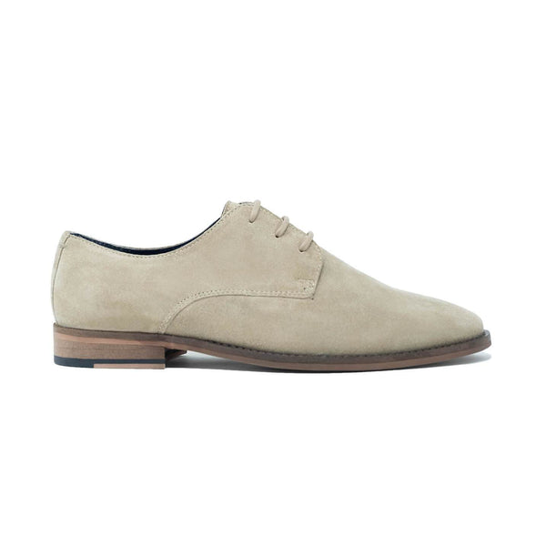 Walk London Tribute Derby Shoe in Stone Suede