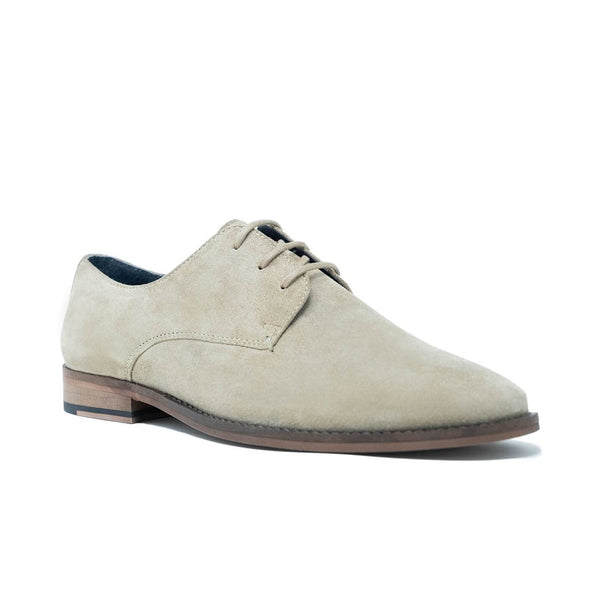 Stone Suede Derby Shoe