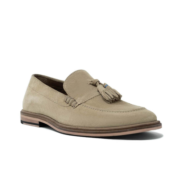 Mens Stone Suede Tassel Loafer