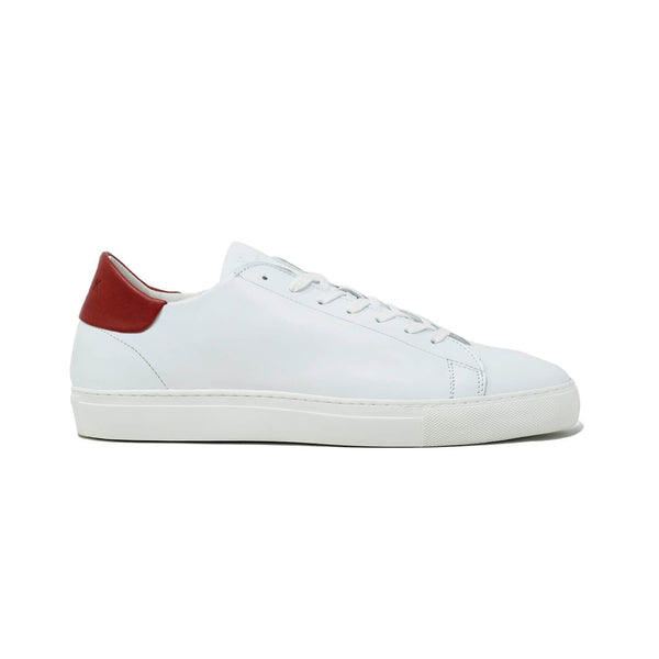 White and Red Mens Sneakers