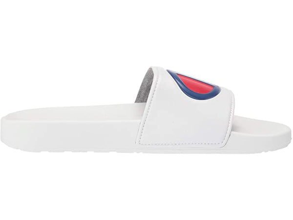 CHAMPION IPO WHITE MENS SLIDE SANDALS