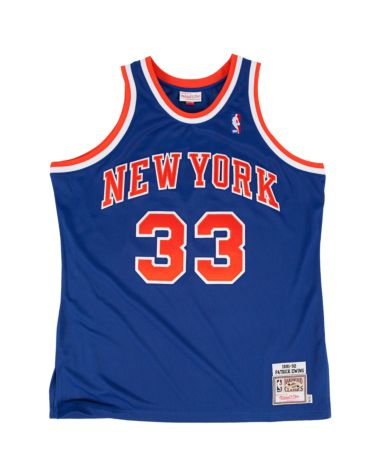 "MITCHELL & NESS ""PATRICK EWING"" 1991-92 AUTHENTIC NEW YORK KNICKS JERSEY (AWAY) - RIME"