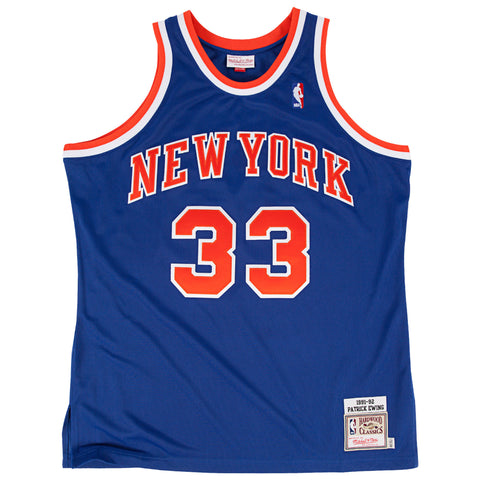 MITCHELL & NESS PATRICK EWING 1991-92 AUTHENTIC JERSEY NEW YORK KNICKS