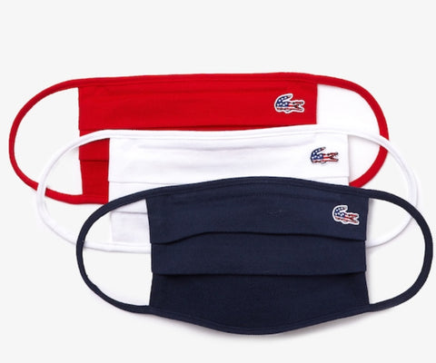 Lacoste Face Mask In Cotton Pique' American CROC