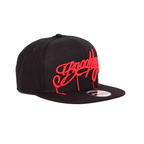 SNKR HEAD Brooklyn RED Drips Hat (Snapback)