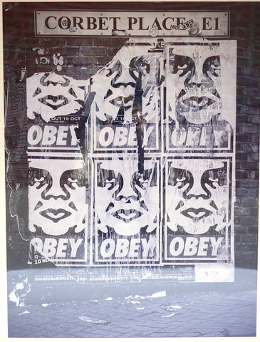 Obey Corbet Place E1 Print (Framed)