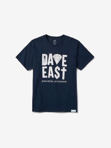 DIAMOND SUPPLY - DIAMOND X DAVE EAST TEE [B19DMPA101SNVY]