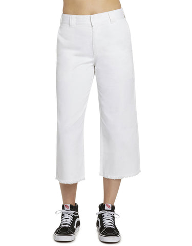 DICKIES - WORK CROP FRAY HEM PANT  [J5002OTWHT] - RIME