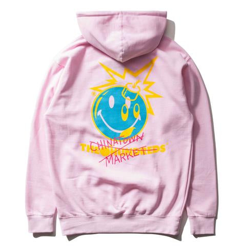 THE HUNDREDS -  THE HUNDREDS X CHINATOWN MARKET CROSSOUT ADAM PULLOVER [L18W202036PNK] - RIME
