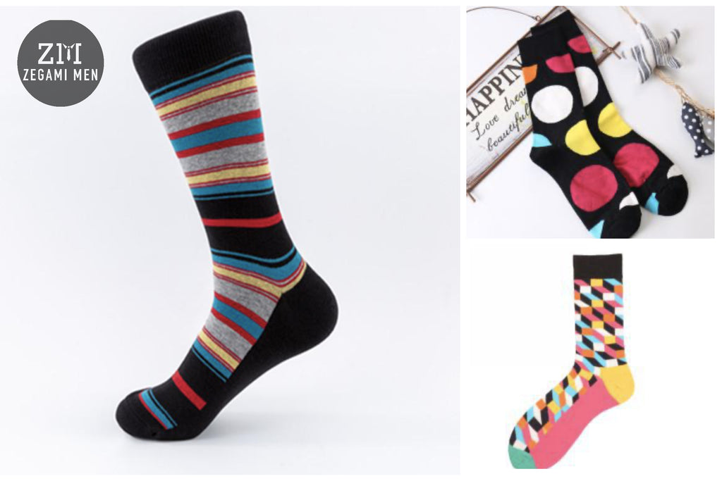 "Zegami Men - Premium Fun, Classy and Comfy socks ""Circles"""