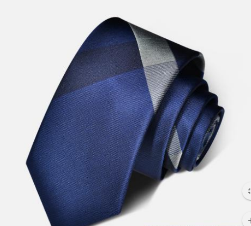 "Zegami Men Tie ""Navy Blue with Checkers in one Part"""