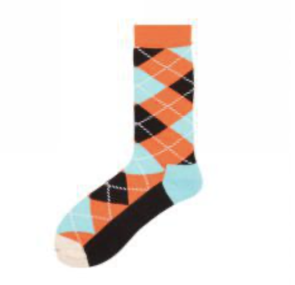 "Zegami Men - Premium Fun, Classy and Comfy socks ""Orange & Blue"""