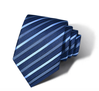 "Zegami Men Tie ""Navy Blue Stripes"""