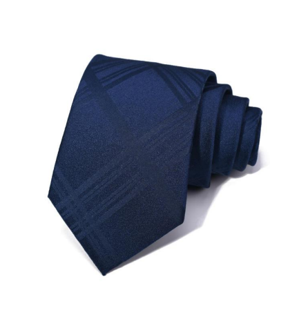 "Zegami Men Tie ""Navy Blue Diamond Design II"""