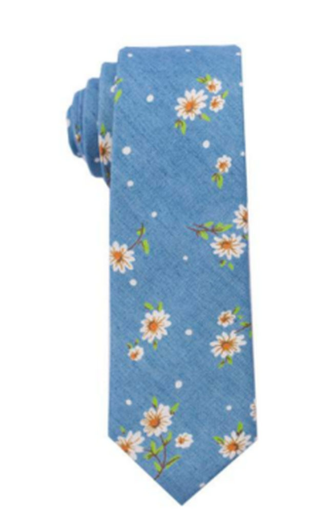 Gorgeous Daisy Design Tie Cotton