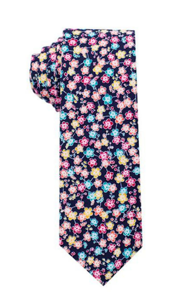 Multi-flower Tie Cotton