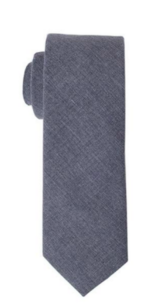 Light Grey design Cotton Tie