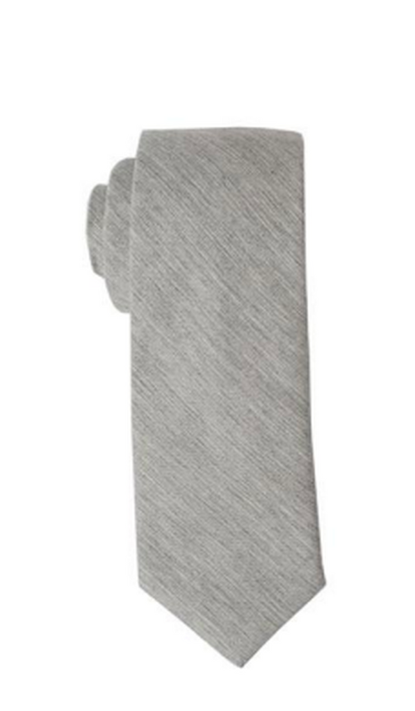 Steel Grey design Tie Cotton