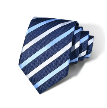 "Zegami Men Tie ""Blue with Multi-tripes Thick"""