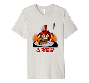 Ares God of War Greek Mythology Olympus Cartoon Boy's Shirt