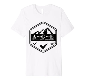 A~G~E Another Goal Executed! Logo Premium Fitted Tee