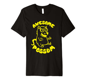 Awesome Possum Graphic Premium Shirt Funny Possum T-Shirt