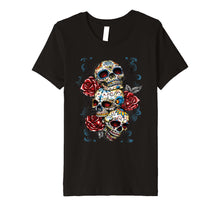 Load image into Gallery viewer, Sugar skull shirt Day of Dead shirt Dia de los Muertos shirt
