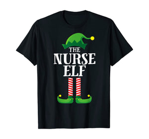 Nurse Elf Matching Family Group Christmas Party Pajama T-Shirt