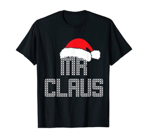 Mens Mr and Mrs Claus Family Matching Pajamas Xmas Santa T-Shirt