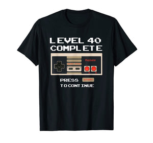 Level 40 Complete Shirt - 1979 40th Birthday Gift
