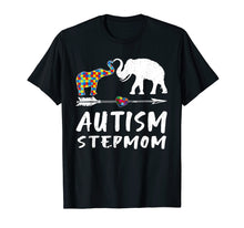 Load image into Gallery viewer, Elephant Autism Step Mom Heart Love - Autism Awareness Shirt