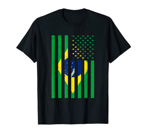 Brazil Shirt Brasil Soccer USA America Flag Jersey Men Women
