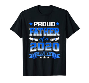 Proud Father Of A Class Of 2020 Senior Tshirt Graduation Gif