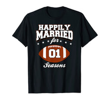 Load image into Gallery viewer, 1 Years Wedding Anniversary T-Shirt Football Couple Gift
