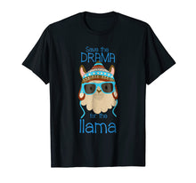 Load image into Gallery viewer, Llama Save The Drama Saying No Prob Funny Cool Face T-Shirt
