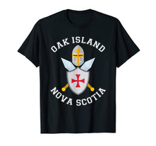 Load image into Gallery viewer, Oak Island T Shirt - Knights Templar Shield Helmet Blades