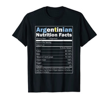 Load image into Gallery viewer, Argentina Shirt - Funny Argentinian Nutrition Facts Tshirt