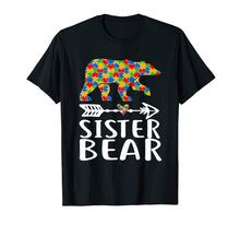 Load image into Gallery viewer, Autism Awareness Sister Bear Arrow Heart Family Tshirt