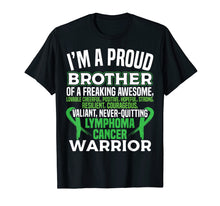 Load image into Gallery viewer, Proud Brother Lymphoma Awareness T-Shirt Lime Green Ribbbon