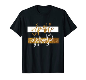 Sparkle tshirt with gold and white upside funny tee