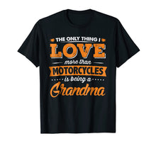 Load image into Gallery viewer, Proud Biker Grandma T-Shirt - Love Motorcycles and Grandkids