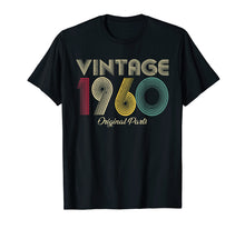 Load image into Gallery viewer, Vintage 1960 T-Shirt Original Parts Men Women - Birthday