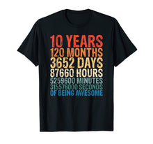 Load image into Gallery viewer, 10 Years Old 10th Birthday T-Shirt 120 Months T-Shirt