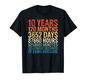 10 Years Old 10th Birthday T-Shirt 120 Months T-Shirt